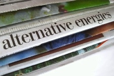 Newspaper with headline 'Alternative Energies'
